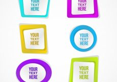 Free vector Abstract colored frames #23406
