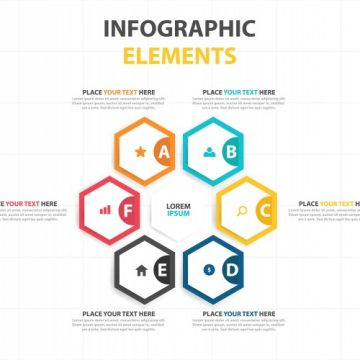 Free vector Abstract corporate infographic elements #23446