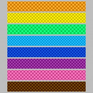 Free vector Abstract seamless polka dot pattern web banner background template set #24198