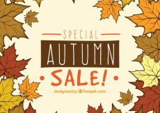 Free vector Autumn sale with hand drawn style #23734