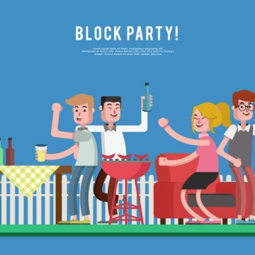Free vector Block Party Vector Illustration #23777