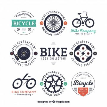 Free vector Collection of bicycle badge #23504