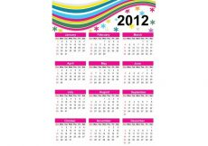 Free vector Colorful Free Vector Calendar for Year 2012 #23623