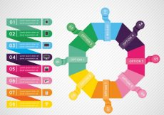 Free vector Colorful infographic template with geometric style #24150