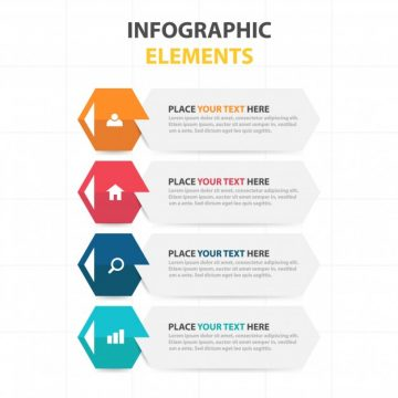 Free vector Corporate infographic elements in banner style #23448