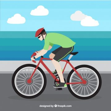Free vector Cycling background in flat design #23818