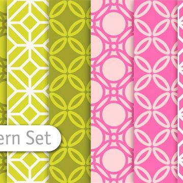 Free vector Decorative Colorful Pattern Set #24358