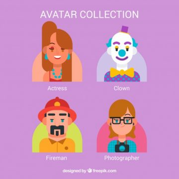 Free vector Exclusive pack of jobs avatars #24387