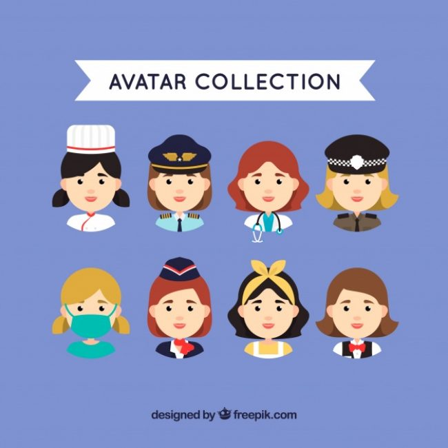 Free vector Female worker avatar collection #24433