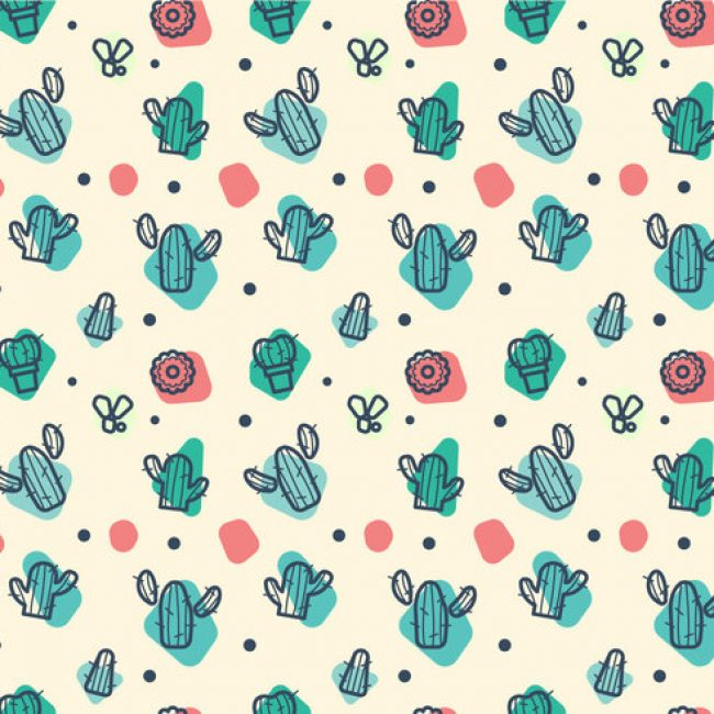 Free vector Free Cacti Pattern Vector #24432
