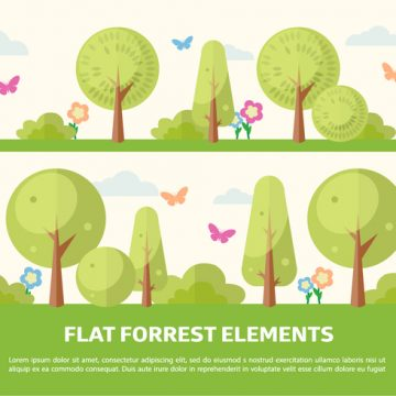 Free vector Free Flat Forrest Elements Vector Background #23833