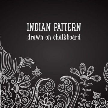 Free vector Free Indian Pattern On Blackboard Vector Background #24422