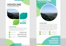 Free vector Green creative roll up banner template #23420