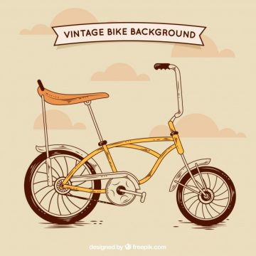 Free vector Hand drawn vintage bicycle background #23816