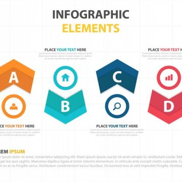 Free vector Modern corporate infographic elements #23450