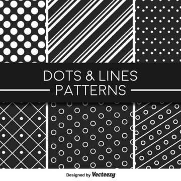 Free vector Monochromatic Lines and Dots Vector Pattern #24219