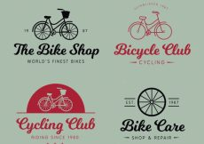 Free vector Pack of logos of bicycles in retro style #23562