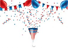 Free vector Party Popper US Colors Vector #23349