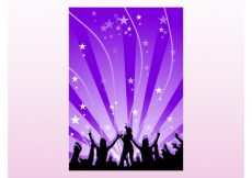 Free vector Party Poster Vector #23773