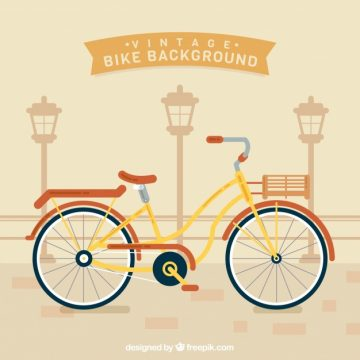 Free vector Retro bike background in vintage style #23814
