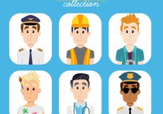 Free vector Set of young men avatars #24238