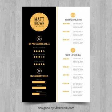 Free vector Sophisticated cv template #24124