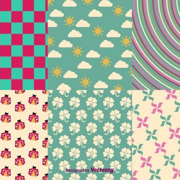 Free vector Spring and Summer Vector Patterns #24416