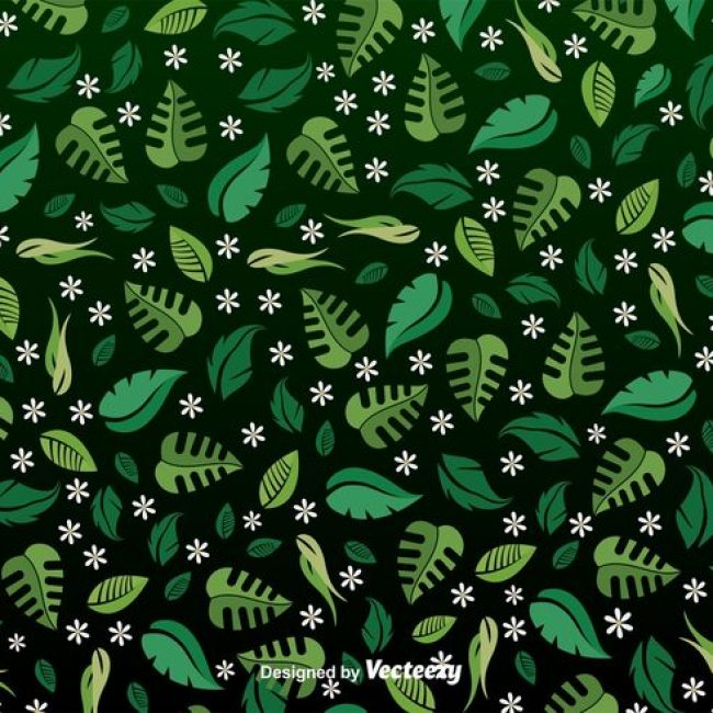 Free vector Spring leaves seamless pattern #24426