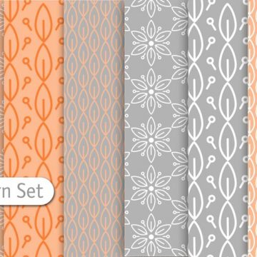 Free vector Decorative Pastel Pattern Set #24221