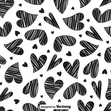 Free vector Vector Doodle Heart Seamless Pattern #24298