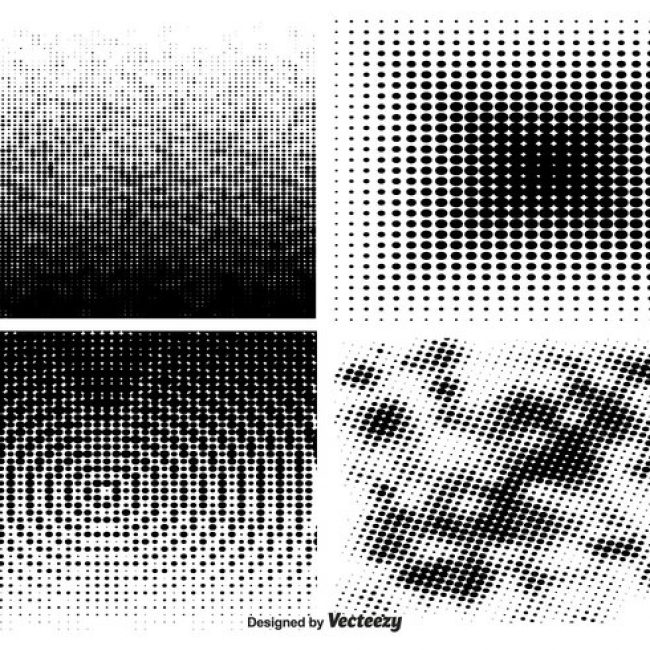 Free vector Halftone Pattern Set #24414