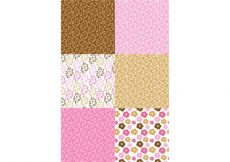 Free vector Pink and Brown Patterns #24179