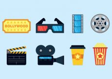 Free vector Set Of Bollywood Icons #23675