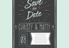 Free vector Vintage wedding invitation with hand drawn style #23962