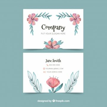 Free vector Floral business card #24446