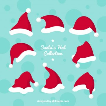 Free vector Santa claus hat collection #24436
