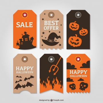 Free vector Halloween Tags #1