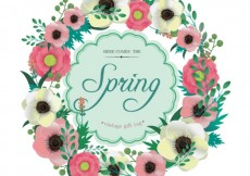 Free vector Floral frame in spring style #6