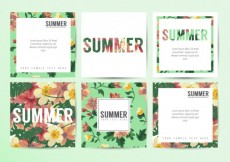 Free vector Floral summer cards #5
