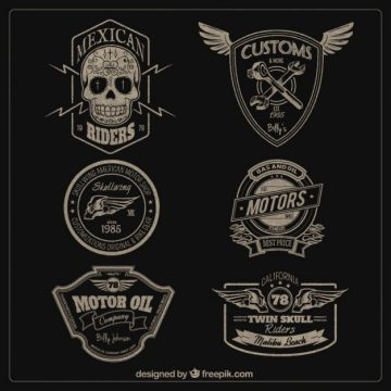 Free vector Motors badges #2