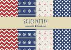 Free vector Sailor patterns #1