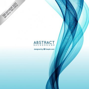 Free vector Abstract background with a blue wave #128