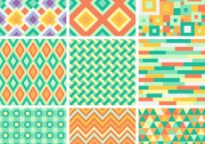 Free vector Abstract backgrounds collection in geometric style #1771