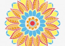 Free vector Abstract flower in arabic style #1125