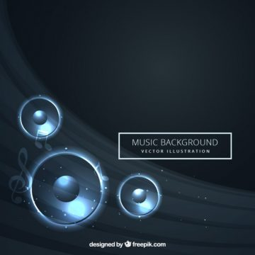 Free vector Abstract music background #3394