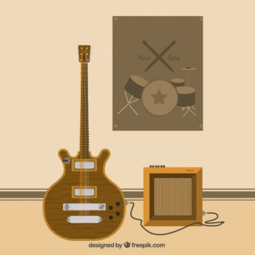 Free vector Acoustic guitar #2610