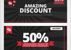 Free vector Amazing discount banners #582