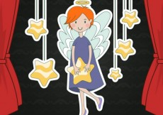 Free vector Angel illustration hanging on a rope #166