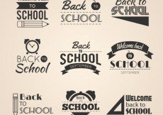 Free vector Back to school badges #360