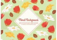 Free vector Background with variety of flowers #3198